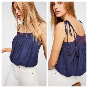 NWOT FREE PEOPLE Eternal Love Embroidered top